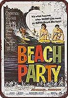 ビーチパーティー 金属板ブリキ看板警告サイン注意サイン表示パネル情報サイン金属安全サイン