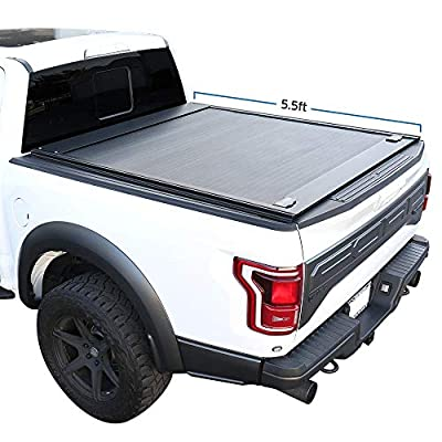 """Syneticusa Aluminum Retractable Low Profile Waterproof Tonneau Cover for 2004-2021 F-150 F150 5.5' 5'6"""" Short Truck Bed"""