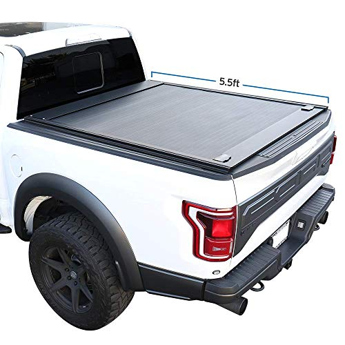 """Syneticusa Aluminum Retractable Low Profile Waterproof Tonneau Cover Fits 2004-2021 Ford F-150 F150 5.5' 5'6"""" Short Truck Bed"""