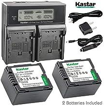Kastar LCD Dual Smart Fast Charger & 2 x Battery for Panasonic VW-VBG130 and AG-AC7, AG-AF100, HMC40, HMC80, HMC150, HDC-H...