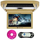 Rockville RVD10HD-BG 10.1' Flip Down Monitor DVD Player, HDMI, USB, Games, LED (RVD10HD-BG v2)