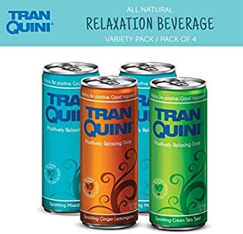 4-Pack Tranquini All-Natural Relaxation Beverage 12 Oz Sleek Can