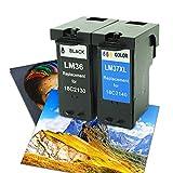Cartucho de tinta compatible para Lexmark 36 XL + 37 XL para Lexmark Z2410 X3650 X3690 X4630 X4650 X5650 X3630 X5690 X6650 X6675 Z2420 X6690 Z2400