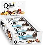 Protein Riegel Low Carb Q-Bar - Whey Isolat Proteinriegel Von Supplify Zum Abnehmen Oder Muskelaufbau - Cookies and Cream 24x 60g - ein echter power-bar als Proteinpulver und Eiweiß Shake...