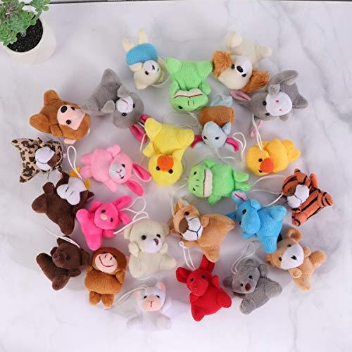 Toyvian Mini Surtido de Juguetes de Peluche de Animales Colgando decoración de Pascua para niños favores de Fiesta (patrón Mixto, 24 Piezas)