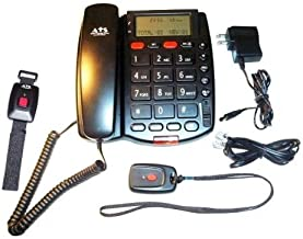 Personal Assistance Voice Dialer II (PAVDII) with Necklace and Wrist Panic Button - No Monthly Fee Medical Alert System