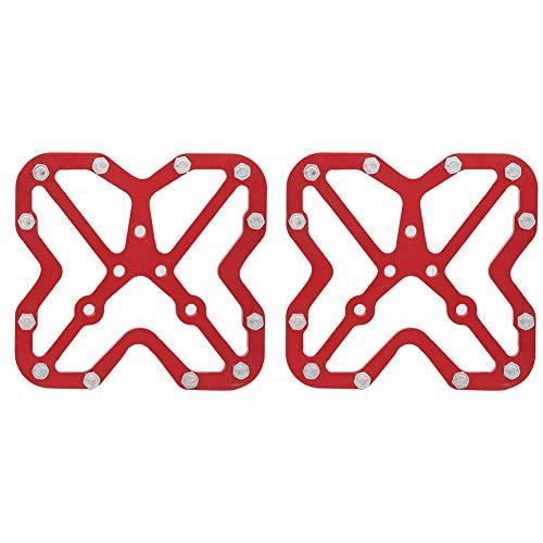 Adattatori per Pedali Senza Clip Grandi per Bici in Lega di Alluminio per SPD - Rosso 1 Paio