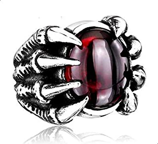 Ring for men in the form of a claw clutch red agate size 11