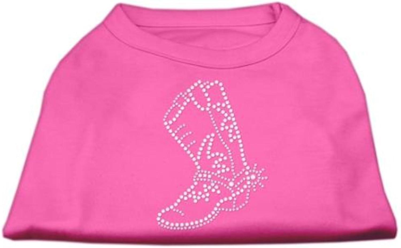 Dog   Cat   Pet Charms Rhinestone Boot Shirts Bright Pink XXXL (20)