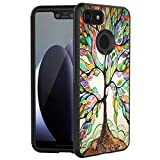 POKABOO Google Pixel 3 Case, [Scratch Resistance + Shock Absorption] Slim Flexible Protective Silicone Cover Phone Case for Google Pixel 3 - Life Tree
