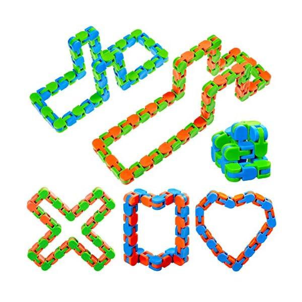 6 Pieces Colorful Puzzle Sensory Fidget Toys 2 Pieces 48 Bit and 4 Pieces 24 Bit...