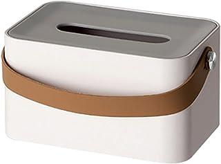Skrzynka na tkankę Pudełko Tkanki na twarz uchwyt pokrywy ze skórzanym uchwytem do łazienki próżność, stół, stół nocny, bi...