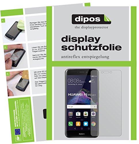 dipos I 6X Schutzfolie matt kompatibel mit Huawei P8 Lite 2017 Folie Displayschutzfolie