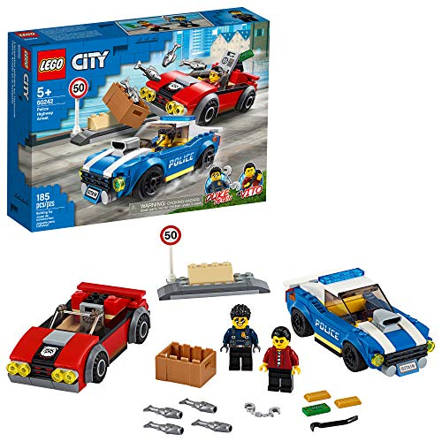 LEGO City Police Highway Arrest 60242 Police Toy, Fun Building Set for Kids, New 2020 (185 Pieces)