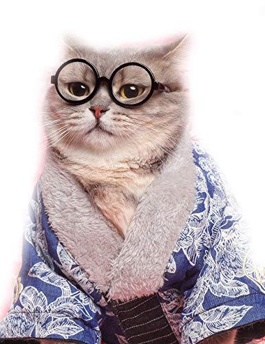 Eonpet Dr glasses 猫 眼鏡 メガネ 可愛い猫 ペット用 日焼け対策 保護 ファッション クール アクセサリー ...