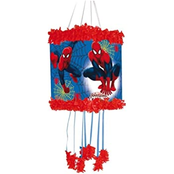 Spiderman Pull String Pinjata Pinata Party Game Toy Fill With Sweets Amazon Co Uk Electronics