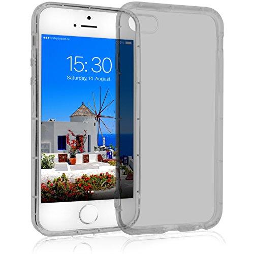 MyGadget Crystal Case TPU per Apple iPhone SE / 5s / 5 - Custodia Protettiva Morbida e Leggera – Cover Silicone Resistente Antiurto/Antigraffio - Grigio