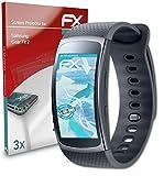 atFoliX Película Protectora Compatible con Samsung Gear Fit 2 Protector Película, Ultra Claro y Flexible FX Lámina Protectora de Pantalla (3X)