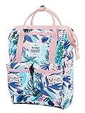 HotStyle DISA Mochila Mini Bolsa Pañal Viajar Mujer   35x23x15cm   Tropical, Rosa