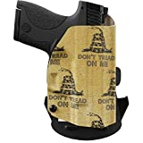 We The People Holsters - Gadsden Flag - Left Hand Outside Waistband Concealed Carry Kydex OWB Holster Compatible with...