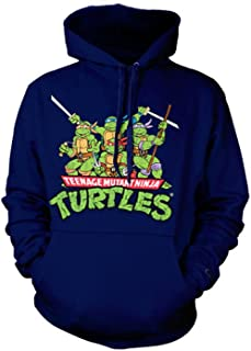 Officially Licensed Merchandise TMNT - Distressed Group Hoodie