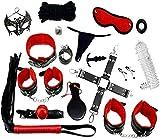 LOVONE Set de esclavitud más grande BDSM con 18 piezas Perfecto para principiantes y experimentados...