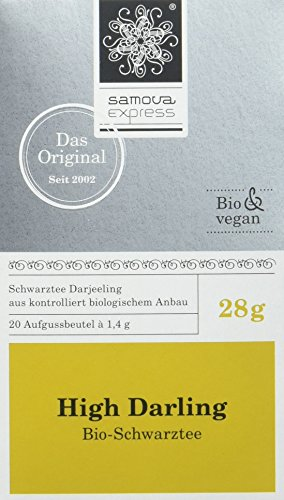 Samova High Darling Express - Bio-Darjeeling (20 Beutel 1,1g), 1er Pack (1 x 28 g)
