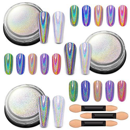 Holographic gel nail polish, Holographic nail powder