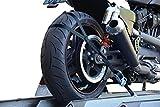 allsafe, blocco di sicurezza per il trasporto sicuro per motociclette, kit supplementare per il montaggio della ruota posteriore