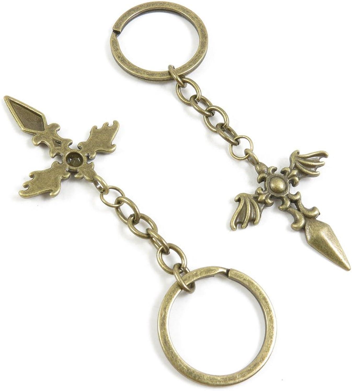 150 Pieces Fashion Jewelry Keyring Keychain Door Car Key Tag Ring Chain Supplier Supply Wholesale Bulk Lots K2ID3 Angel Cross