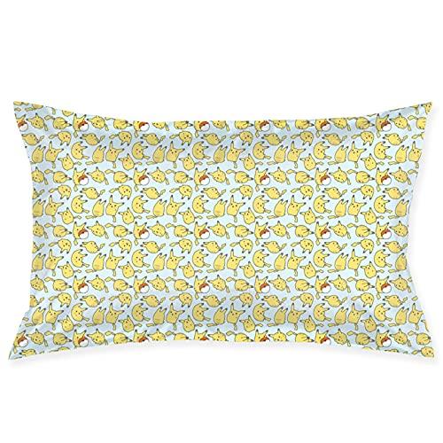 Fundas de cojín de Pokemon 50 x 76 cm, súper suave, de felpa corta, fundas de almohada para decoración, coloridas decoraciones del hogar
