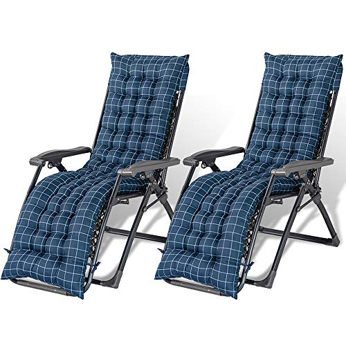 Rocking Chair Cushion Set Garden Sun Loungers and Recliners Sun Lounger Cushion Pads Thick Chair Cushion Pads Sunbed Cushion Covers for Travel Holiday Garden Indoor Outdoor (style 1 (2pcs))