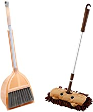 Dongplayer Children in The Kitchen Broom Mini Cutlery Children's Toys Pretend to Play mop Floor Cleaning Pretend Game Cleaning Settings