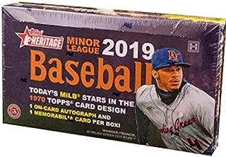2019 Topps Heritage Minor League Baseball HOBBY box (18 pks/bx)