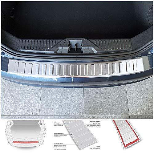 teileplus24 AL148 Ladekantenschutz für Ford Fiesta'18 Aluminium Abkantung, Farbe:Silber