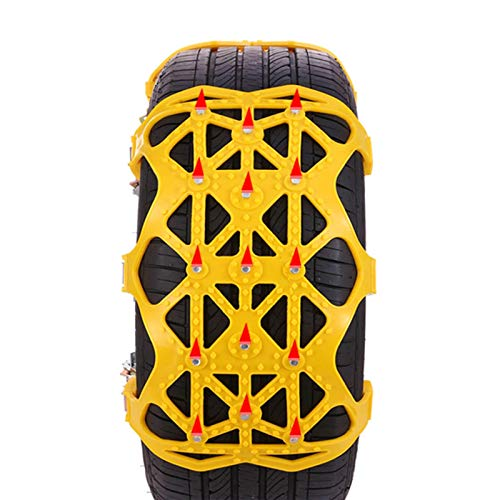 haohaiyo Cadenas de nieve para coche, 6 unidades, universales, para neumáticos de invierno, antideslizantes, para neumáticos de 165-265 mm de ancho