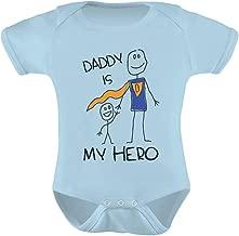 سالوبيت أطفال لطيف مطبوع عليه Tstars Daddy is My Hero - Super Dad للأب من Son/Daughter