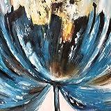 Pintura al óleo pintada a mano Acrílico Flor azul Arte de la pared Imagen Sala Decoración en lienzo 60cmx80cm