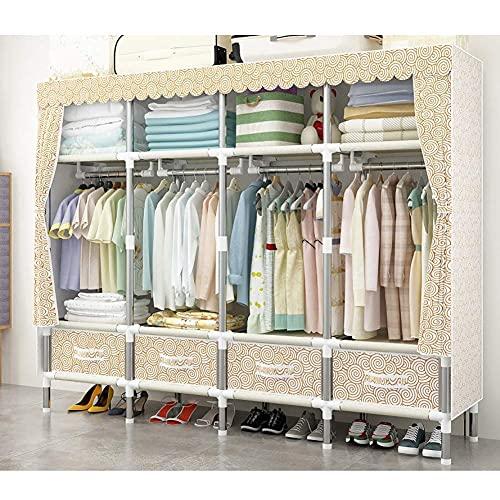 Home Equipment Tragbare Garderobe Aufbewahrungsschrank Kleidung Garderobe Aufbewahrung Schrank Kleidung Tragbare Garderobe Aufbewahrungsschrank Tragbare Schrank Organizer Tragbare Schränke Garderob