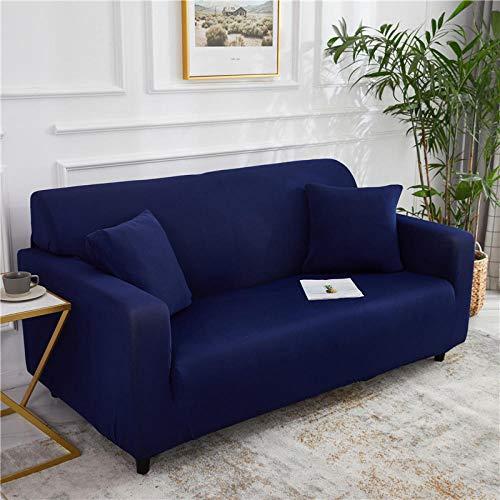 B/H 3 Plaza Funda de Sofá Elástico Cubierta,Funda de sofá elástica Universal, Funda de sofá de Tela Antideslizante-Azul A_145-185cm,Funda sofá Duplex