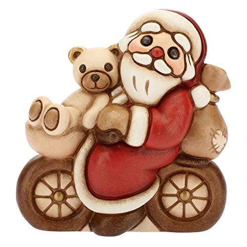 THUN - Babbo Natale In Bicicletta - Formato Piccolo - Ceramica - 6,9 Cm H