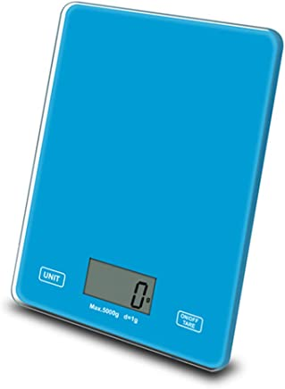 Digital Kitchen Food Scale, 22Lbs/5Kg Multifunction Precision Digital Scales, Kitchen Scales Digital Weight Grams and Ounces 0.1G, with Large LCD Display, for Home, Kitchen,Blue