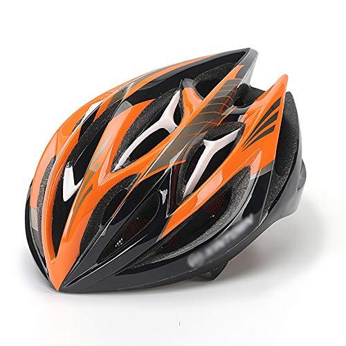 JIAGU Cascos para Bicicletas para Adultos MTB Casco Integrado Casco Casco de equitación (Color : Black Orange White, Size : L)