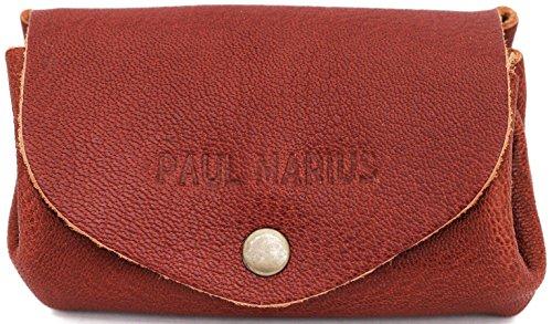 PAUL MARIUS Weiches Leder Geldbörse Brieftasche farbe mittlelbraun LE GUSTAVE