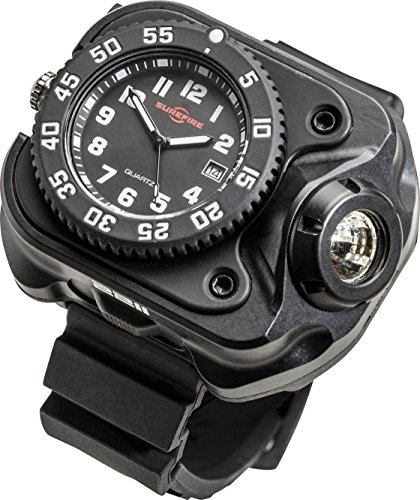 SureFire 2211 Rechargeable Variable Output WristLight with Watch, 300 Lumens, Anodized Body