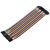 Aihasd 40P 30cm Female-Female Dupont Jumper Wire Cable Jumper for Arduino Raspberry pi
