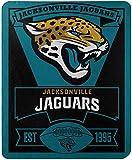 Officially Licensed NFL Jacksonville Jaguars 'Marque' Printed Fleece Throw Blanket, 50' x 60', Multi Color