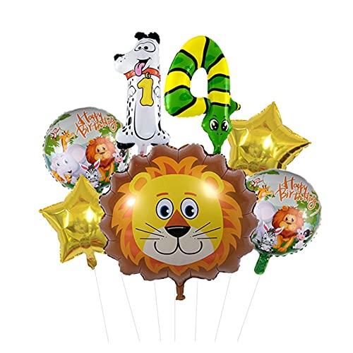 XIAOZSM Globos Lion Head Globos Set Animal Número de Diapositivas Globos Cumpleaños Cumpleaños Fiesta de cumpleaños Decoraciones Baby Shower ( Farbe : 14 )