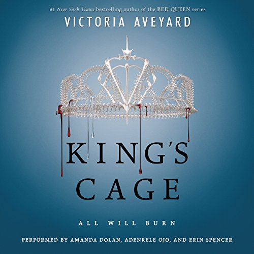 King's Cage                   Written by:                                                                                                                                 Victoria Aveyard                               Narrated by:                                                                                                                                 Amanda Dolan,                                                                                        Adenrele Ojo,                                                                                        Erin Spencer                      Length: 17 hrs and 19 mins     45 ratings     Overall 4.4