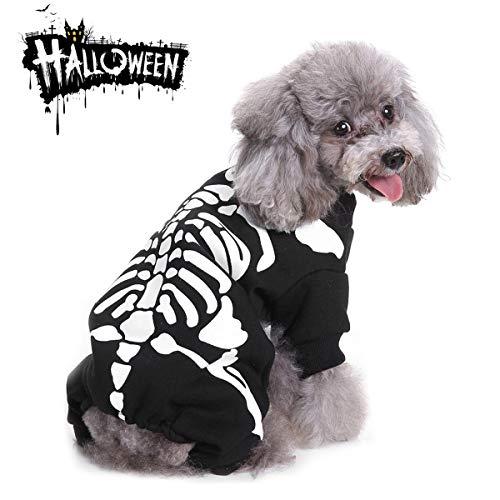 MMNM Halloween Kostüme Für Hunde Katzen, Skelett Scary Kostüme Cosplay, Halloween Party Kleidung,S